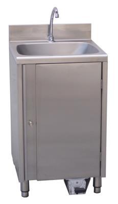 lavamani in acciaio inox autoalimentato stazione igiene