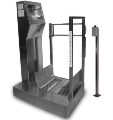 Lavasuole con comando a distanza in acciaio inox sanificazione suole 926 AU