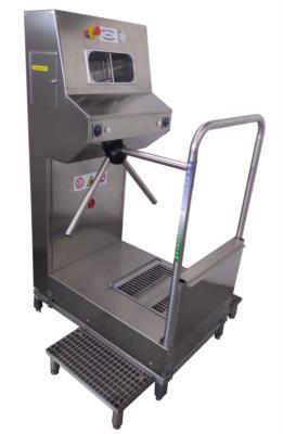 stazione igienizzante nebulizzazione mani lavasuole in acciaio inox